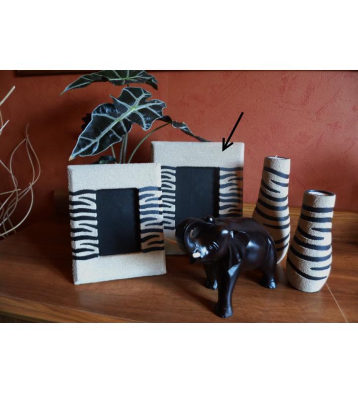 Cadre Photo grand modèle déco africaine, motif Zèbre