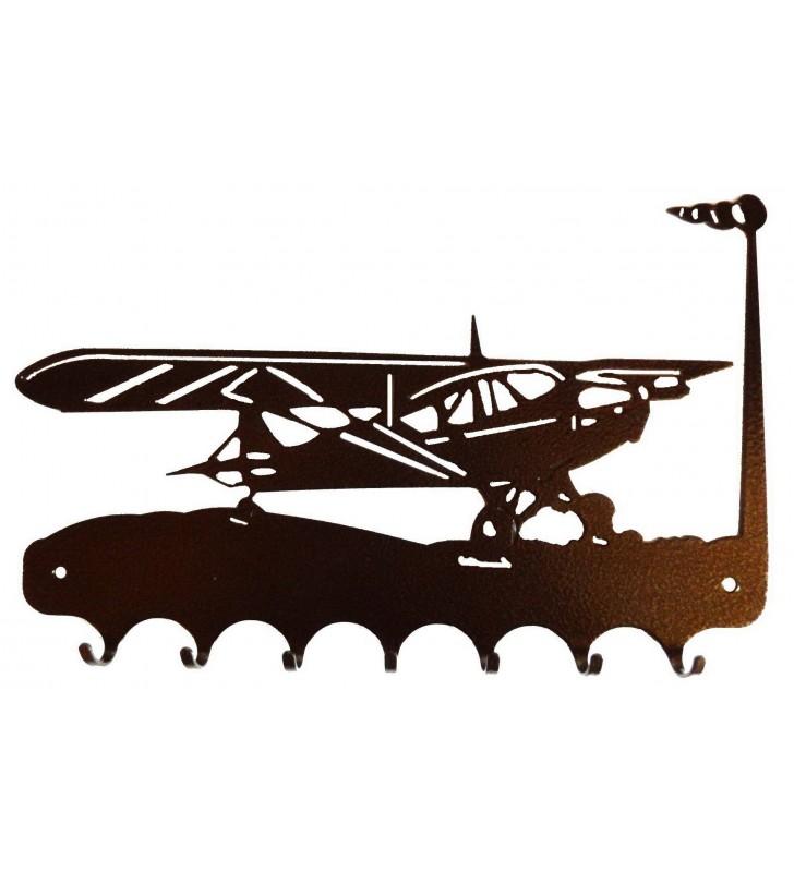 Accroche-clés en ferronnerie d'art - Motif Avion
