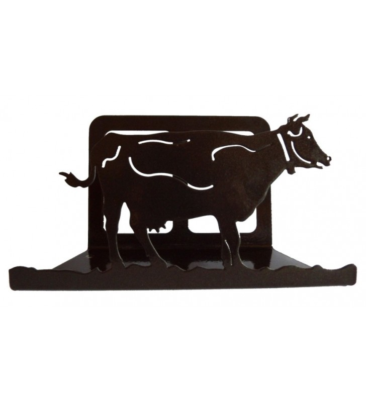 Porte-courrier, décor en métal, Vache