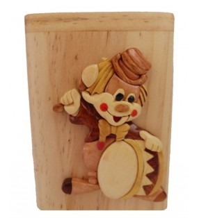 Clown, Tirelire en bois personnalisable