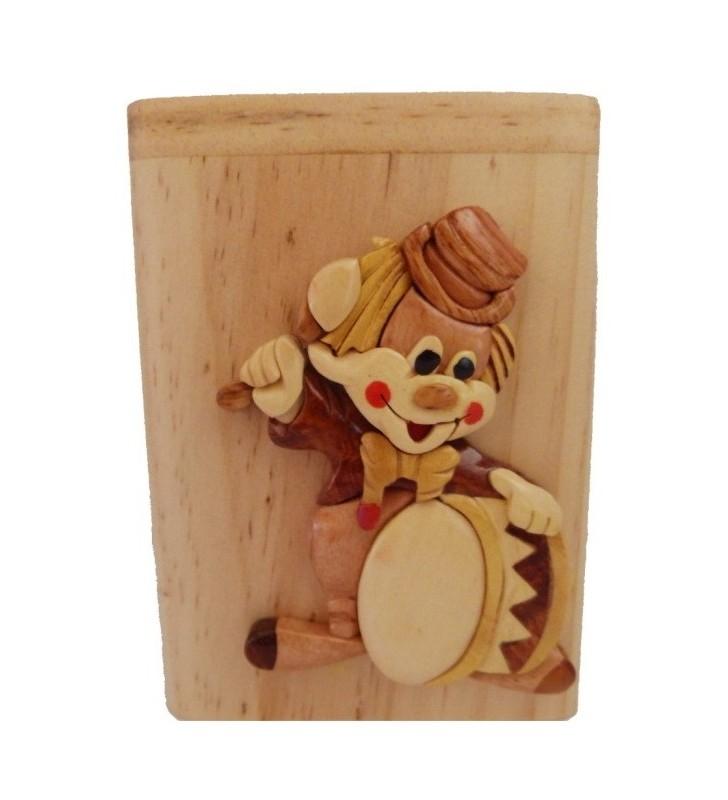 Clown, Tirelire en bois personnalisable