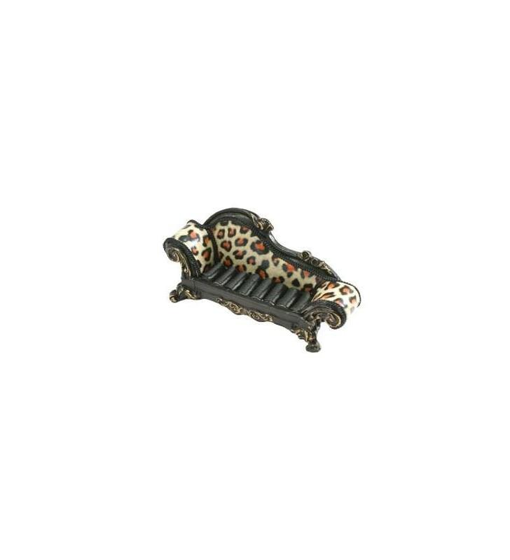 Porte-bijoux, canapé, motif léopard