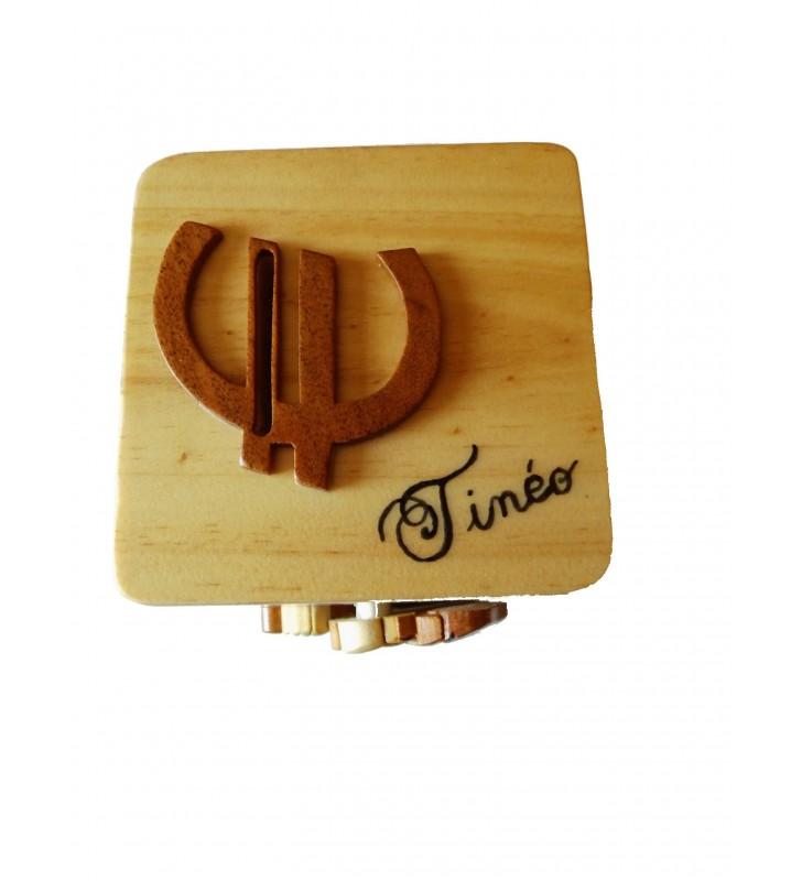 Chat, Tirelire animée en bois personnalisée