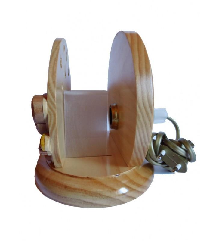Lampe de chevet veilleuse en bois, Chat et Souris
