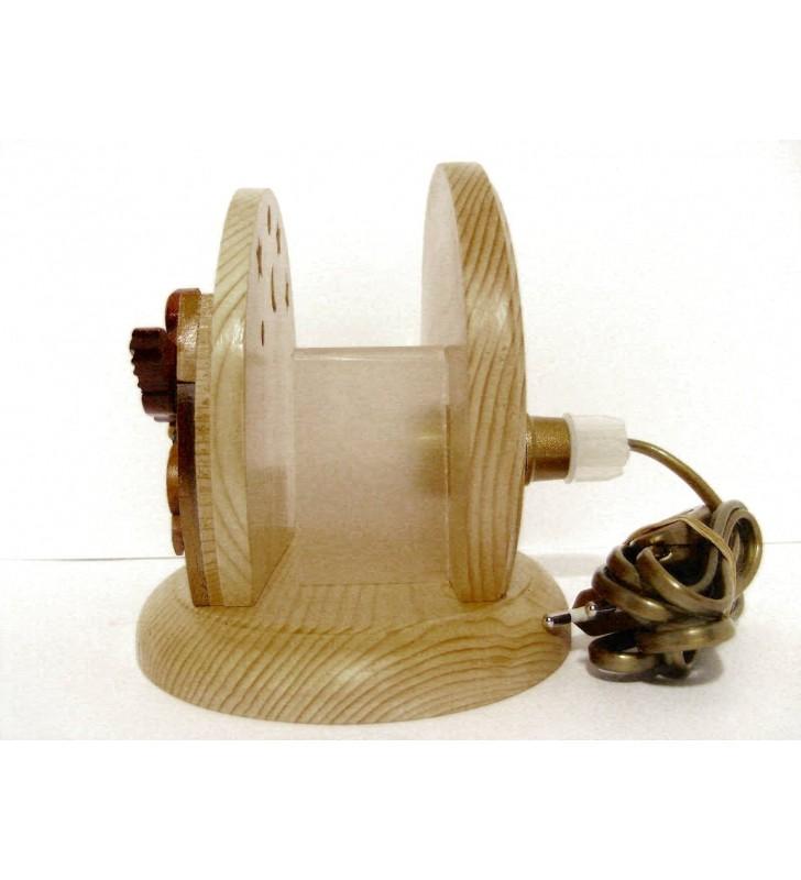 Lampe de chevet veilleuse originale en bois, motif Oiseaux