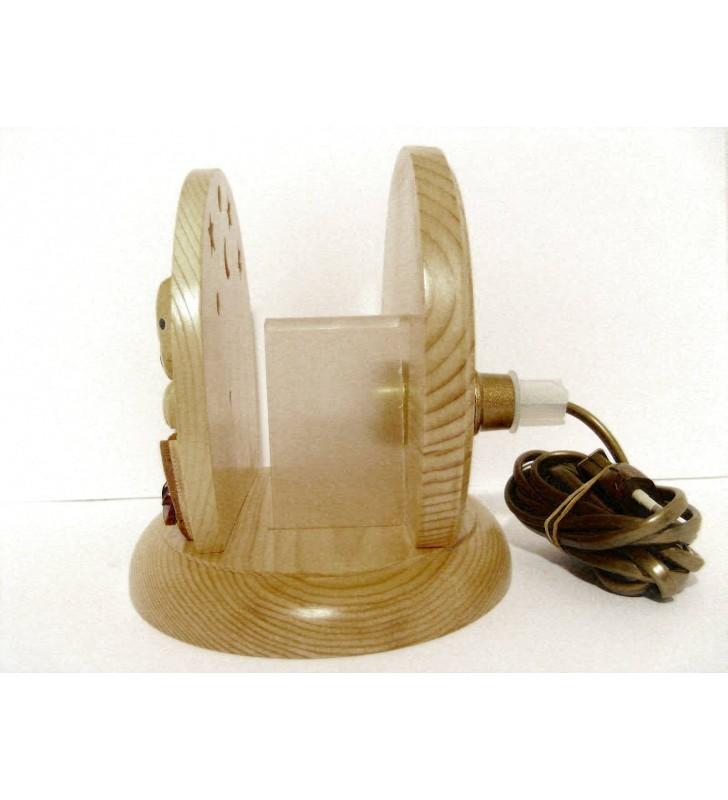 Lampe de chevet veilleuse en bois, Chien Dalmatien