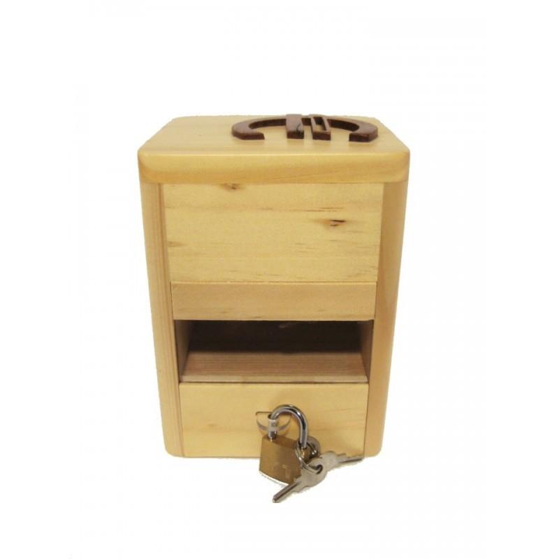 Tirelire en bois avec prénom, Coccinelle