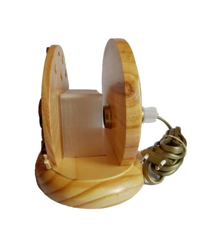 Lampe de chevet veilleuse en bois avec prénom, Abeille et Coccinelle