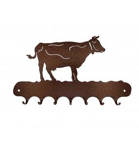 Accroche-clés, décor en métal, Vache
