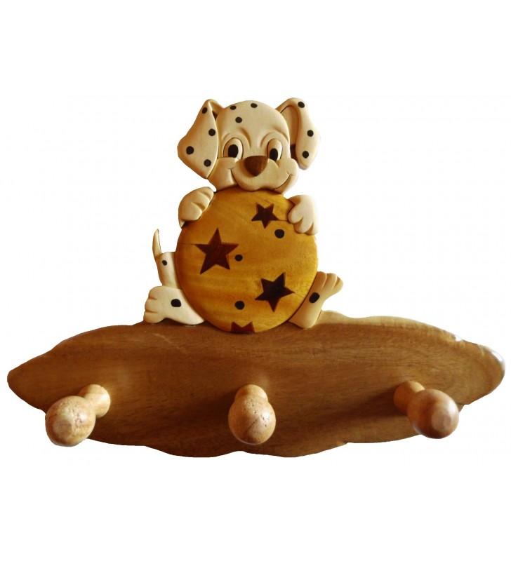 Porte-manteau en bois pour enfant, Chien dalmatien