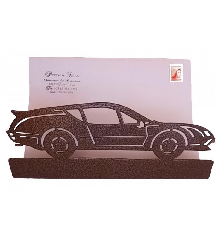 Porte-courrier, décor en métal, Alpine A 310