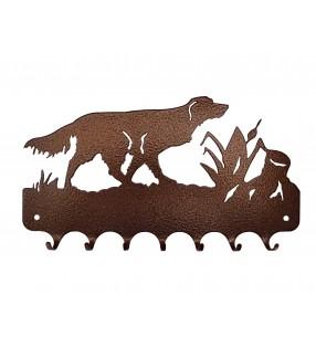 Accroche-clés, décor en métal, Épagneul breton