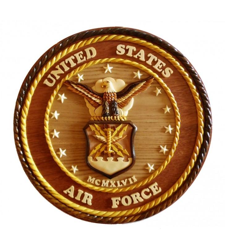 Insigne décorative en bois et intarsia, US Air Force