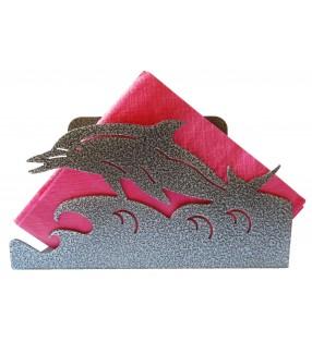 Porte-serviettes original en métal, dauphin
