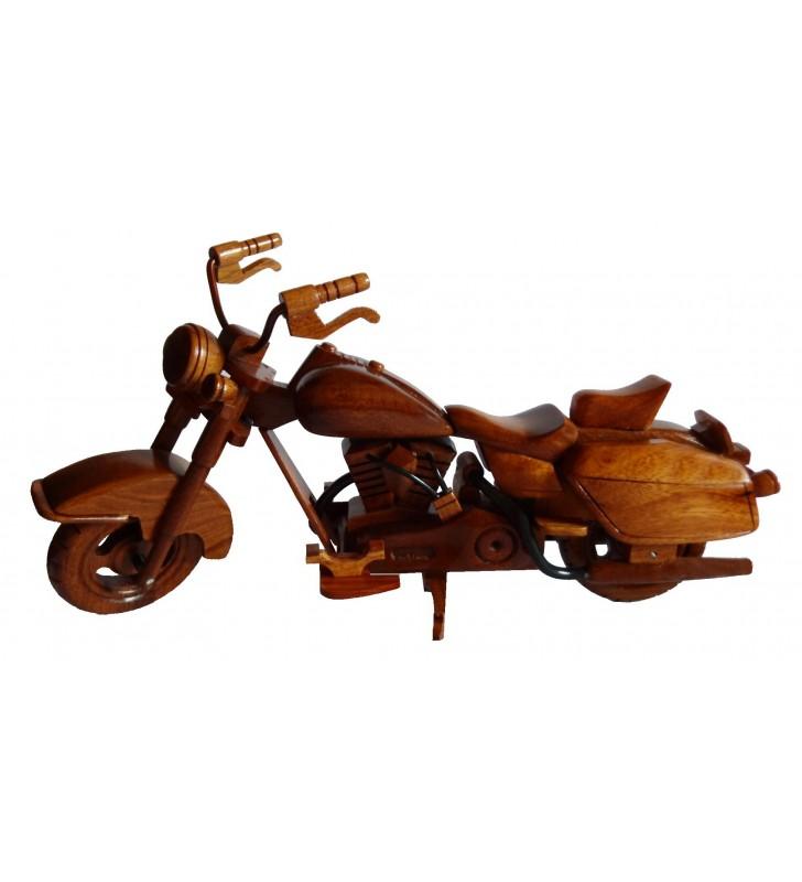 Maquette moto en bois, Harley Davidson, déco pour collectionneurs