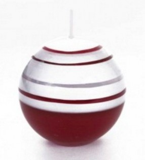 Bougie ronde rouge pour bougeoir Satellite
