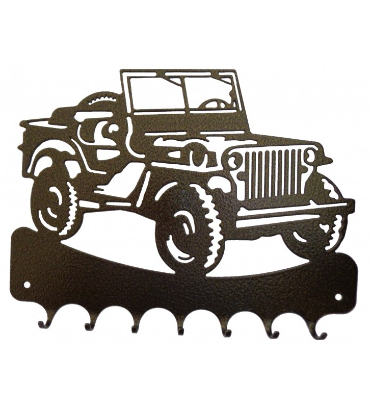 Accroche-clés, décor en métal, Jeep