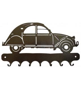 Accroche-clés, décor en métal, 2 CV 1956