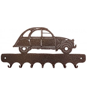 Accroche-clés, décor en métal, 2 CV