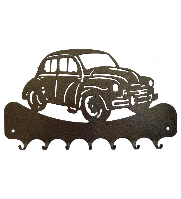 Accroche-clés, décor en métal, Renault 4 CV