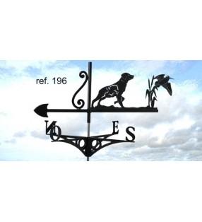 Girouette de toit Épagneul et bécasse, en acier ou en inox