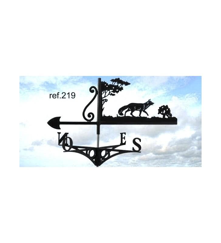 Girouette de toit Renard, en acier ou en inox
