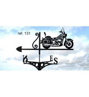 Girouette de toit Moto Harley, en acier ou en inox