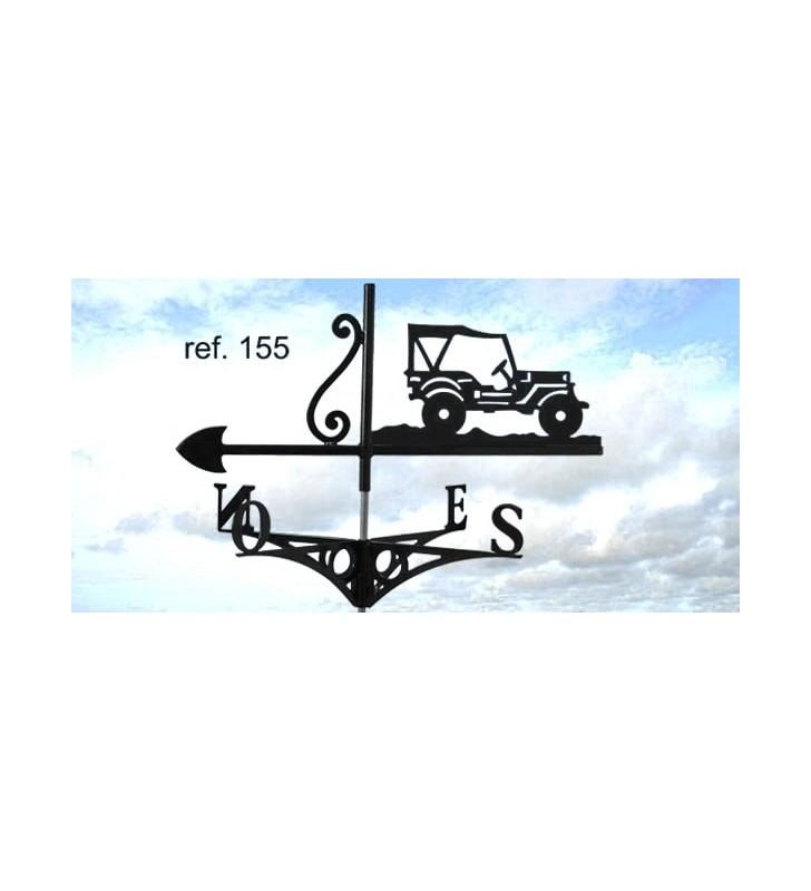 Girouette de toit Jeep, en acier ou en inox