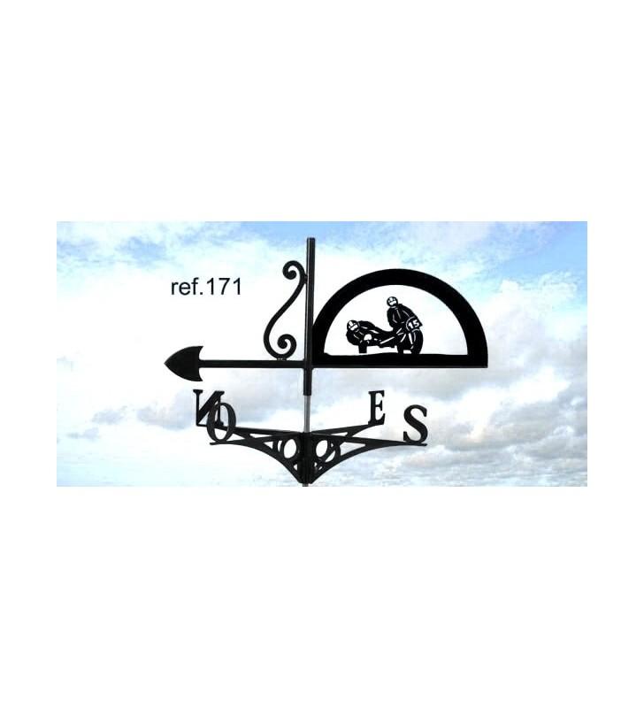 Girouette de toit Course de motos, en acier ou en inox