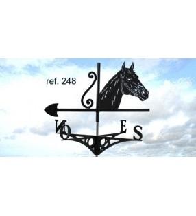 Girouette de toit Tête de cheval, en acier ou en inox