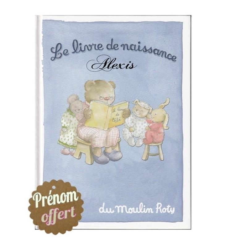 Livre de naissance Moulin Roty personnalisé au prénom de Bébé
