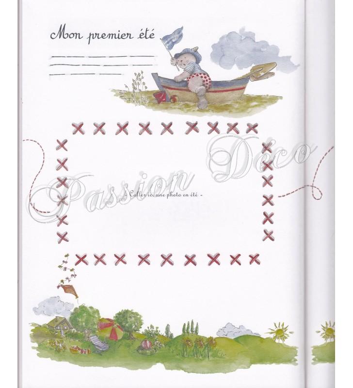Exemple d'une page illustrée du Livre de naissance Moulin Roty