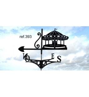 Girouette de toit Manège de fête foraine, en acier ou en inox