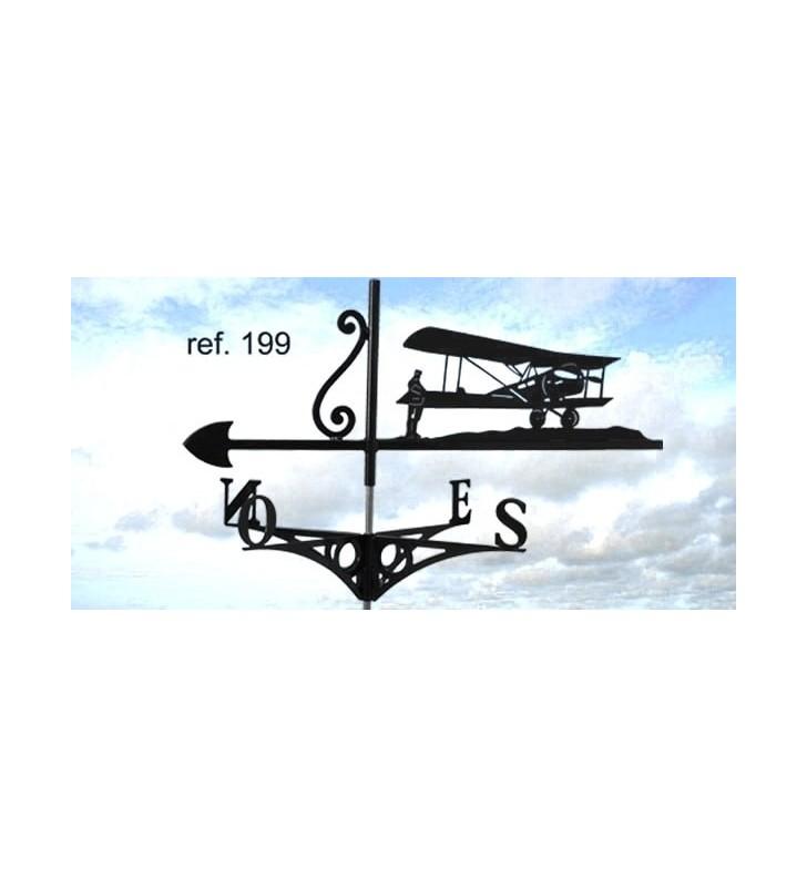 Girouette de toit Avion ancien, en acier ou en inox
