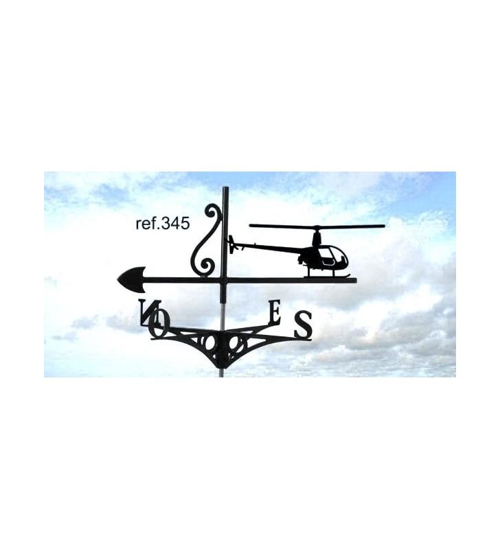 Girouette de toit Hélicoptère, en acier ou en inox