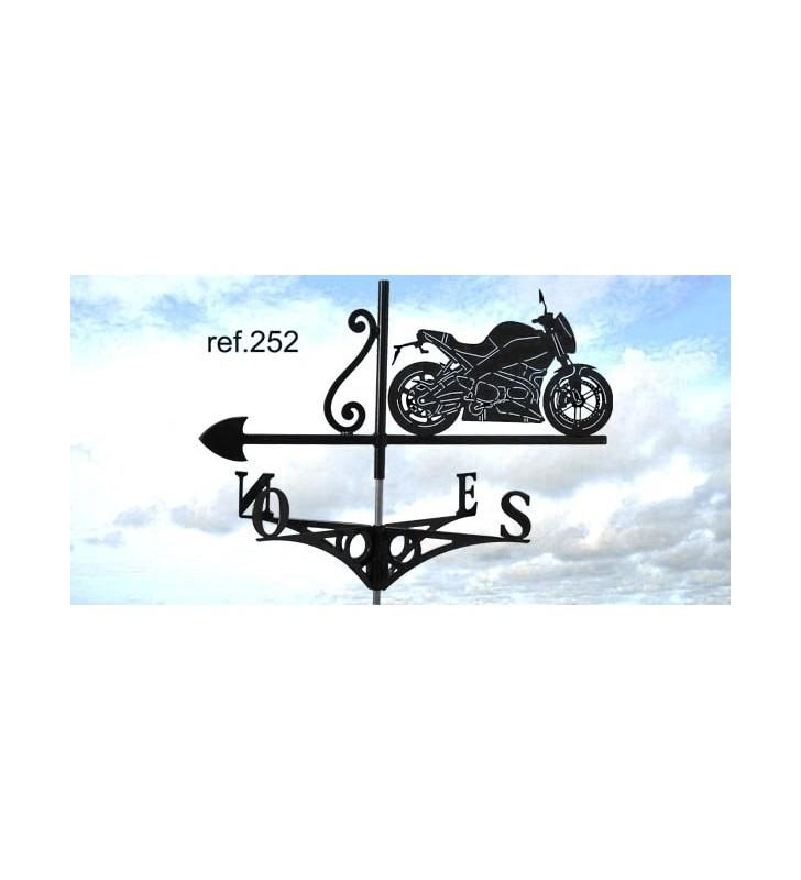 Girouette de toit Buell Moto, en acier ou en inox