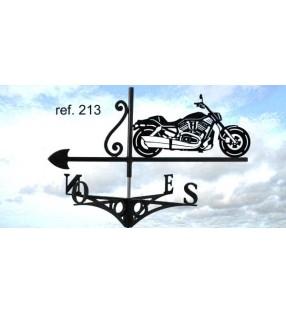 Girouette de toit Moto Harley V-ROD, en acier ou en inox
