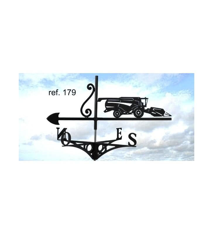 Girouette de toit Moissonneuse batteuse, en acier ou en inox