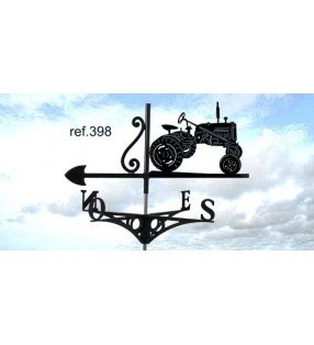 Girouette de toit Tracteur Farmall, en acier ou en inox