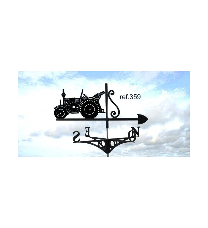 Girouette de toit Tracteur Lanz Eibulldog, en acier ou en inox