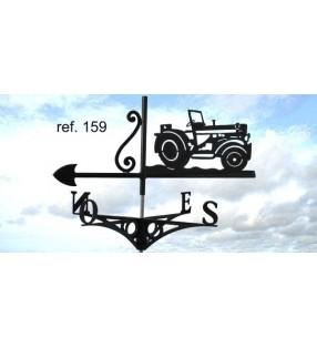 Girouette de toit en acier Tracteur, en acier ou en inox