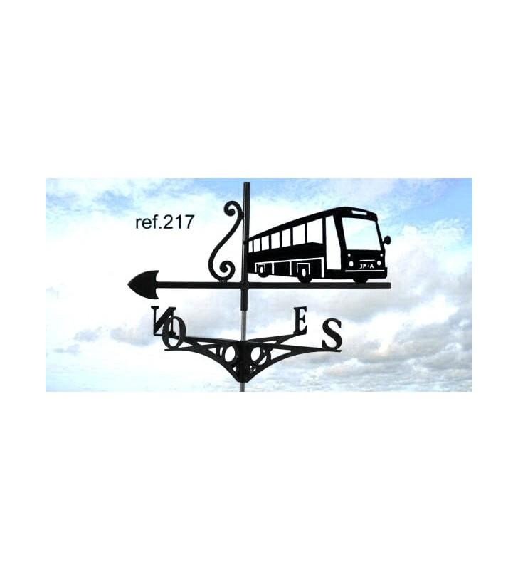 Girouette de toit Bus, en acier ou en inox