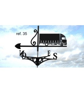 Girouette de toit Camion, en acier ou en inox