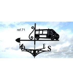 Girouette de toit modèle Camionnette, en acier ou en inox