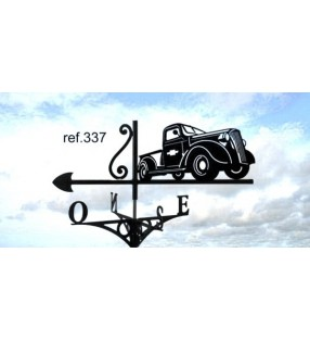 Girouette de toit Camion Chevrolet, en acier ou en inox