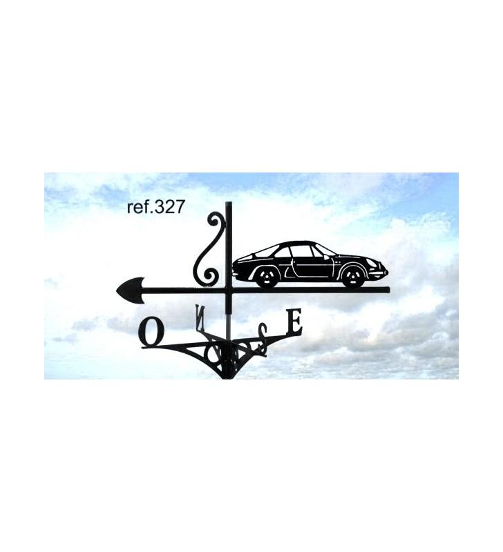 Girouette de toit Berlinette Alpine A110, en acier ou en inox