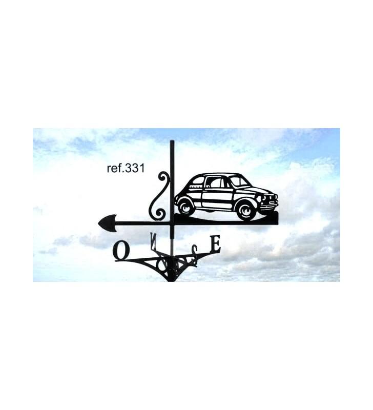 Girouette de toit Fiat 500, en acier ou en inox