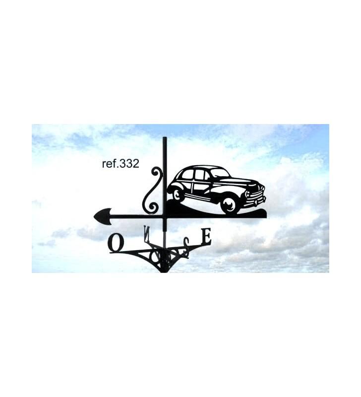 Girouette de toit Peugeot 203, en acier ou en inox