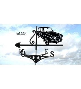 Girouette de toit Citroën Ami 8 break, en acier ou en inox