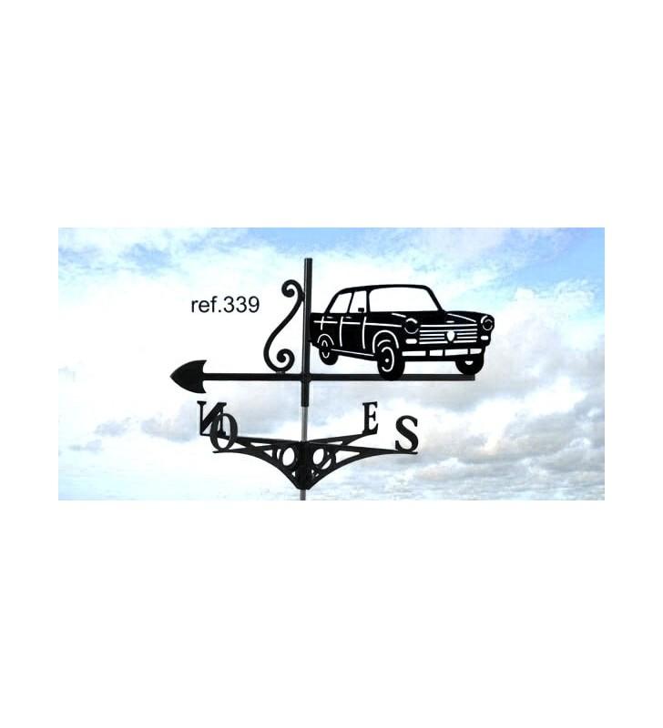 Girouette de toit Peugeot 404, en acier ou en inox